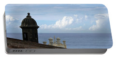 View To The Sea From El Morro Portable Battery Charger by Lois Lepisto