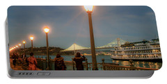 Viewing The Bay Bridge Lights Portable Battery Charger