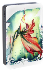 Portable Battery Charger featuring the painting Viewpoint by Anna Ewa Miarczynska