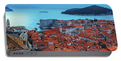 Views Of Dubrovnik, The Port And The Adriatic Sea Portable Battery Charger