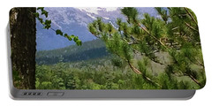 Portable Battery Charger featuring the photograph Views Of Katahdin by Robin Regan