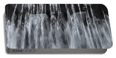 Vigeland Fountain In Blue Portable Battery Charger