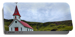 Vik Church And Cemetery - Iceland Portable Battery Charger