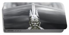 Viking Hood Ornament II Portable Battery Charger by Helen Northcott