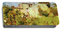 Villa With Roses Portable Battery Charger by Dragica Micki Fortuna