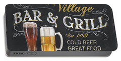 Village Bar And Grill Portable Battery Charger