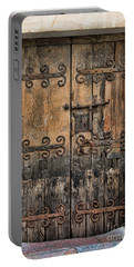Village Chateau French Old Ancient Door Color  Portable Battery Charger