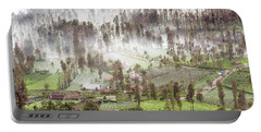 Portable Battery Charger featuring the photograph Village Covered With Mist by Pradeep Raja Prints