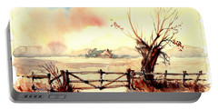 Village Scene IIi Portable Battery Charger