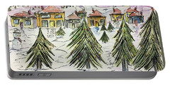 Village Winter Wonderland Portable Battery Charger