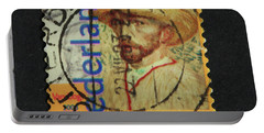 Vincent Van Gogh On A Postage Stamp Portable Battery Charger by Patricia Hofmeester