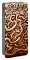 Vines Of Brown Portable Battery Charger by Kevin Middleton