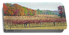 Vineyard In Autumn Portable Battery Charger