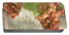 Vineyard - Napa Valley Vintner's Touch Pinot Grigio Grapes  Portable Battery Charger