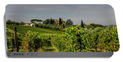 Portable Battery Charger featuring the photograph Vineyard View by Jean Haynes
