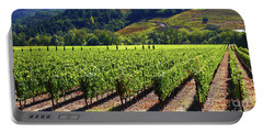 Vineyards In Sonoma County Portable Battery Charger