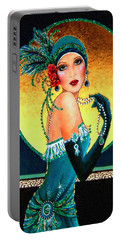 Vintage 1920s Fashion Girl  Portable Battery Charger