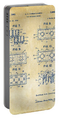 Vintage 1961 Lego Brick Patent Art Portable Battery Charger