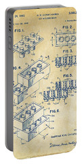 Vintage 1961 Toy Building Brick Patent Art Portable Battery Charger