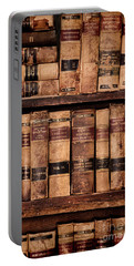 Portable Battery Charger featuring the photograph Vintage American Law Books by Jill Battaglia