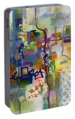 Portable Battery Charger featuring the painting Vintage Atelier 2 by Hailey E Herrera