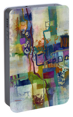 Portable Battery Charger featuring the painting Vintage Atelier by Hailey E Herrera
