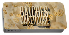 Vintage Bakery Ad - Batches Bakehouse Portable Battery Charger