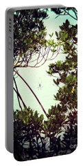 Portable Battery Charger featuring the digital art Vintage Banana Spider by Megan Dirsa-DuBois