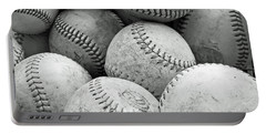 Vintage Baseballs Portable Battery Charger