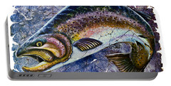 Vintage Blue Trout Fresco  Portable Battery Charger