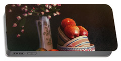 Vintage Bowls With Apples Portable Battery Charger