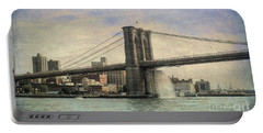 Vintage Brooklyn Bridge Portable Battery Charger