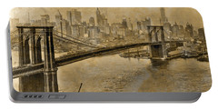 Vintage Brooklyn Bridge To Manhattan Portable Battery Charger