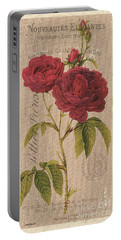 Vintage Burlap Floral 3 Portable Battery Charger