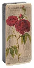 Vintage Burlap Floral 3 Portable Battery Charger
