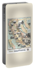 Vintage California Map Portable Battery Charger