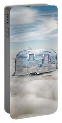 Vintage Camping Trailer In The Clouds Portable Battery Charger