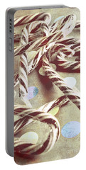 Vintage Candy Canes Portable Battery Charger
