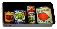 Vintage Canned Vegetables Portable Battery Charger