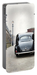 Vintage Car On A Cobbled Street Portable Battery Charger