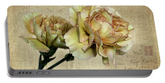 Vintage Carnations Portable Battery Charger by Judy Vincent