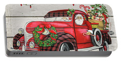 Vintage Christmas Truck-e Portable Battery Charger