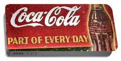 Portable Battery Charger featuring the painting Vintage Coca-cola Sign by David Millenheft