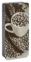 Vintage Coffee Art. Stimulant Portable Battery Charger by Jorgo Photography - Wall Art Gallery