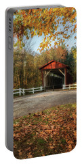 Portable Battery Charger featuring the photograph Vintage Covered Bridge by Dale Kincaid