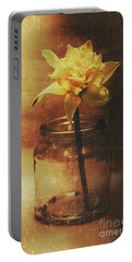 Vintage Daffodil Flower Art Portable Battery Charger