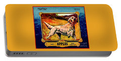 Portable Battery Charger featuring the painting Vintage English Setter Apples Advertisement by Peter Gumaer Ogden