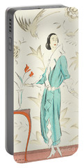 Vintage Fashion Plate From The Twenties Portable Battery Charger