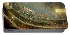 Portable Battery Charger featuring the photograph Vintage Fenway Park At Night by Joann Vitali