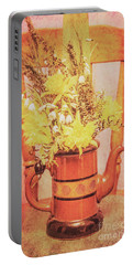 Vintage Fine Art Still Life With Daffodils Portable Battery Charger